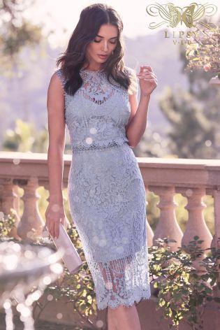 Lipsy Vip Embroidered Lace Midi Dress Lace Midi Dress Lace Dress Womens Midi Dresses