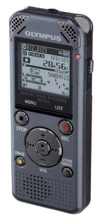 Olympus WS-812 Diktiergerät (4GB Speicher, Micro SD-Kartenslot, USB, Musik Player, inkl. Ni-MH Akku & Stereo Kopfhörer)