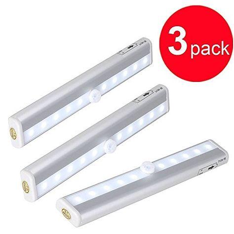 Luxonic Led Motion Sensor Light10 Superbright Led Cool White Automatic Light Up Under Ca Motion Sensor Lights Motion Sensor Lights Outdoor Small Pendant Lights