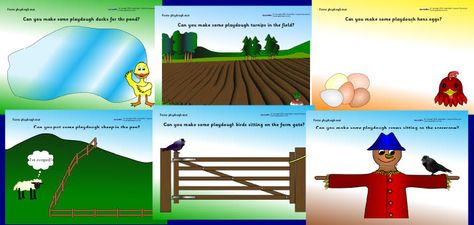 farm playdoh mats