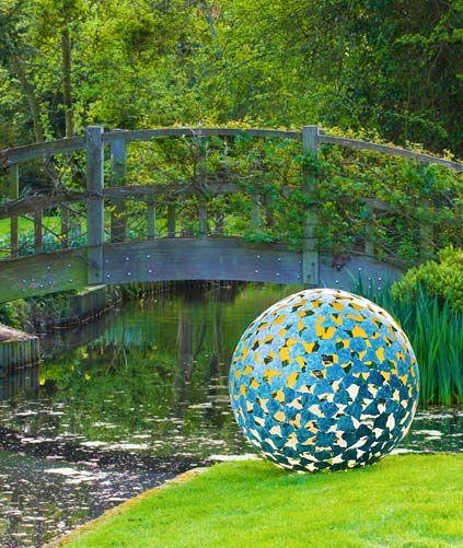 Outdoor Garden Sculptures - Outdoor Spheres - the Mantle Metal Art