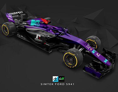 Re Imagined Simtek Ford S941 Livery Formula 1 Car Concept