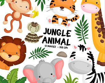 King Of Animal Clipart Cute Lion Clip Art Cute Animal Etsy In 2020 Animal Clipart Tropical Animals Safari Baby Animals