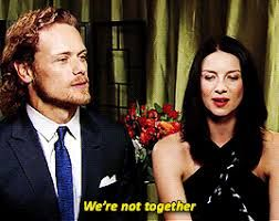 Image result for sam heughan and caitriona balfe tumblr