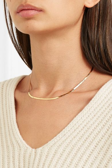 Gold Net Sustain Herringbone 10 Karat Gold Necklace Loren Stewart Gold Necklace Gold Chain Necklace Jewelry