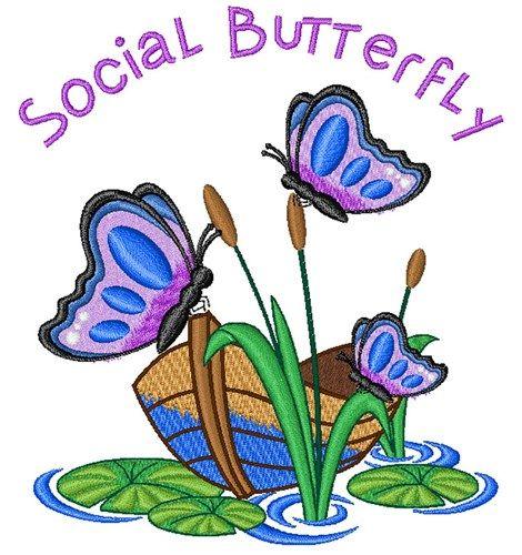 Social Butterfly Embroidery Design Annthegran Com Butterfly Embroidery Social Butterfly Butterfly