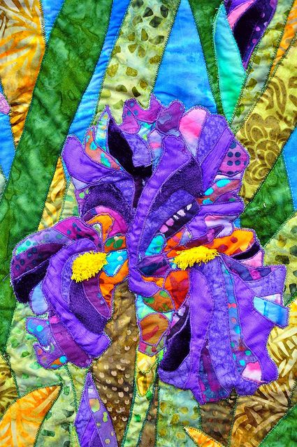 Crazy art quilt closeup   - repin if this is awesome!