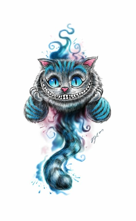 Cheshire Cat Cheshire Cat Wallpaper, Cheshire Cat Drawing, Cheshire Cat Tattoo, Alice And Wonderland Tattoos, Cheshire Cat Alice In Wonderland, Cheshire Cat Disney, Gato Alice, Desenho New School, Tattoo Gato