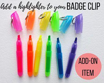 Add A Mini Dry Erase Marker To Your Nurse Badge Clip Order Etsy Mini Sharpie Nurse Badge Nurse