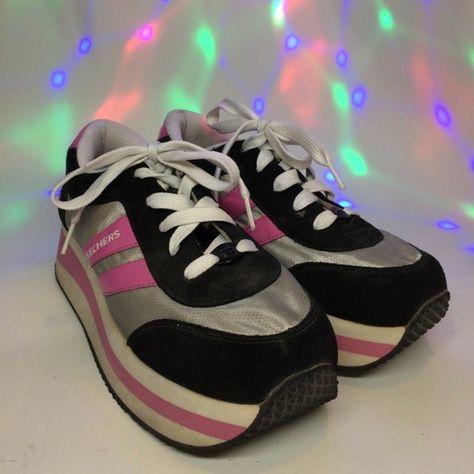 Vintage 90s Skechers Platform Sneakers