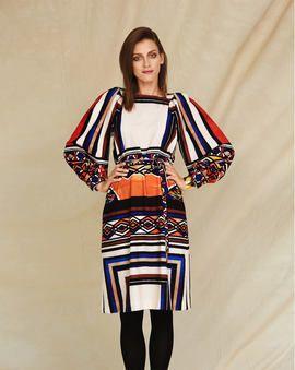 Schnittmuster Ethno Muster Kleid 01 2018 115 Burda Style Schnittmuster Damen Mode