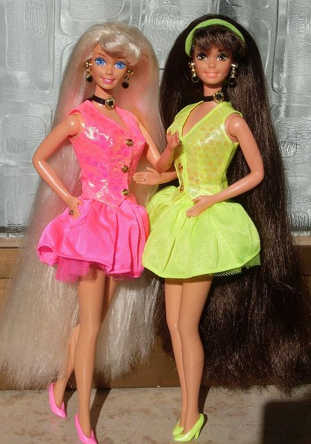 My Cut N Style Barbies Blond And Brunette Version Barbie 80 S