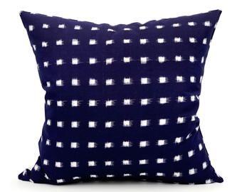 16x24 inches hemp Pillow Handwoven Pillows Navy blue Lumbar Pillow hemp Cushion Cover sofa Pillow Living Room Decoration Pillow case