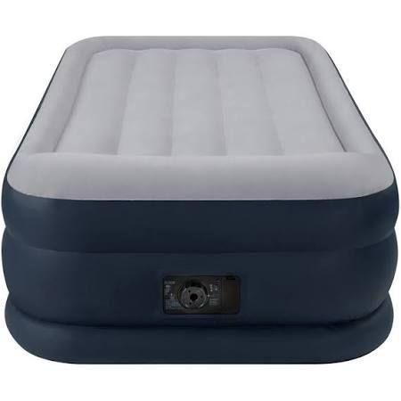 Intex Deluxe Twin Air Mattress With Built In Pump And Pillow Rest Air Mattress Twin Air Mattress Air Mattress Camping