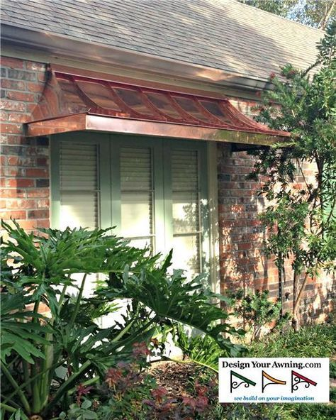 The Copper Juliet Awning Just Like This For Front Window Catsdiywindow Copper Awning House Paint Exterior Outdoor Window Awnings