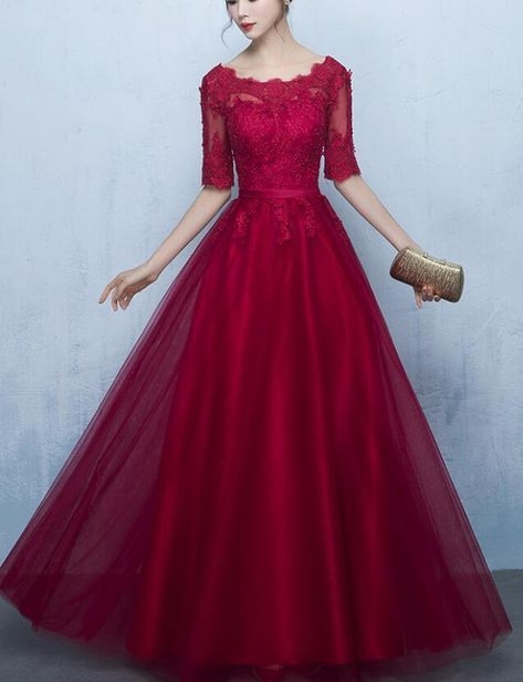 4ee501b37bc Any things please feel free to contact to us   WeddingPromDresses outlook.com         Product Detail        Fabric Lace  Product Number   0VCM Color Dark Red ...