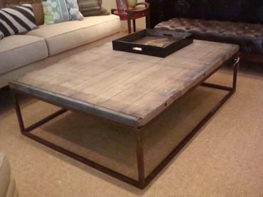 Belgium Brickmakers Obezon Top Coffee Table On Iron Rectangular Base Originally Used As For Brick Drying Approx 55