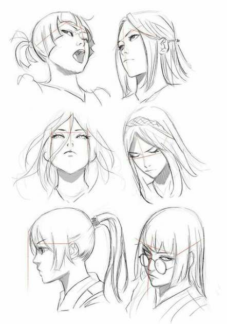 35 Trendy How To Draw Anime Face Angles Art Reference Manga Drawing Art Sketches