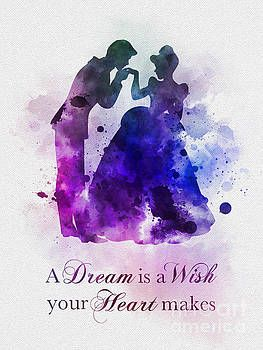 A Dream Is A Wish Your Heart Makes Cinderella Quotes Art Prints