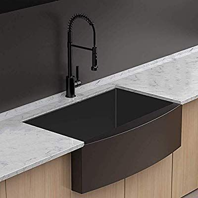 Farmhouse Kitchen Sink Apron Front Lordear 30 Inch Gunmetal Matte Black Deep Single Bowl 16 Gauge Stain In 2020 Farmhouse Sink Kitchen Stainless Steel Farm Sink Sink