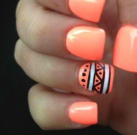 Try this tribal design with Gelish