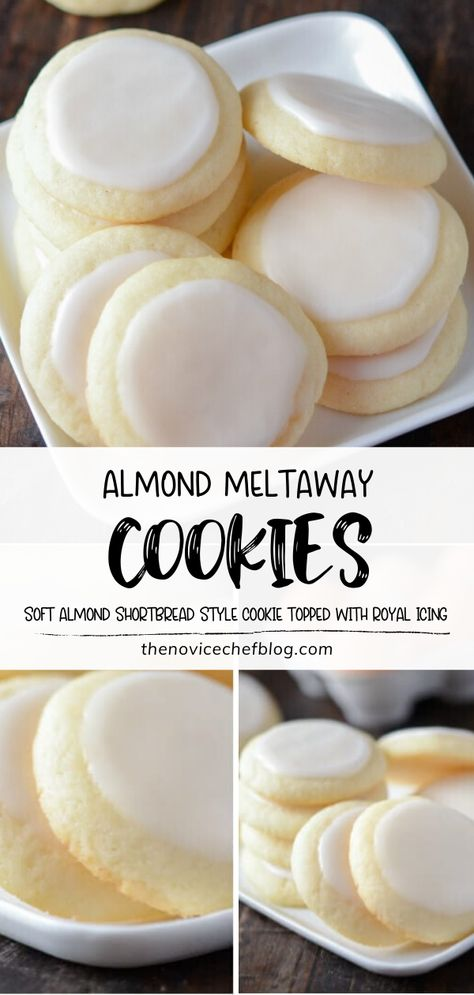 Bake up something new this weekend! Prepare to fall in love with Almond Meltaway Cookies. These shortbread-style treats are perfectly soft and melt in your mouth, with tons of butter and almond flavors. Check out how you can have a little fun with this amazing dessert!