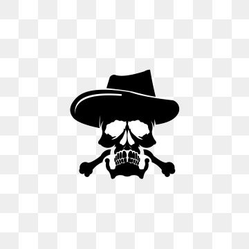 Skull Cross Bone Vector Pirate Icon Logo Halloween Ghost Skull Head Wearing Cowboy Hats Logo Icons Cross Icons Halloween Icons Png And Vector With Transparen Skull Head Halloween Icons Cross Vector