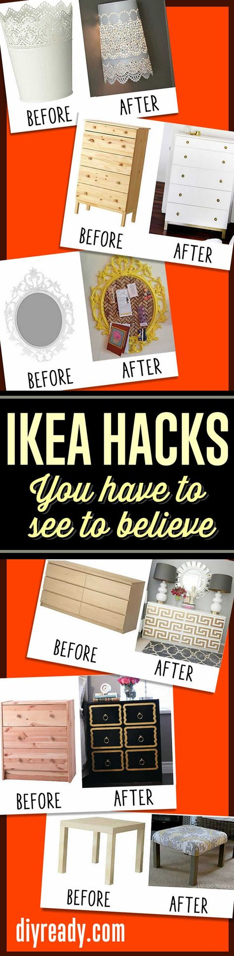 IKEA hack ideas - IKEA DIY furniture hacks and furniture makeovers you have to see to believe! #diy #furniture #diyprojects #ikea http://diyready.com/15-amazing-ikea-hacks/