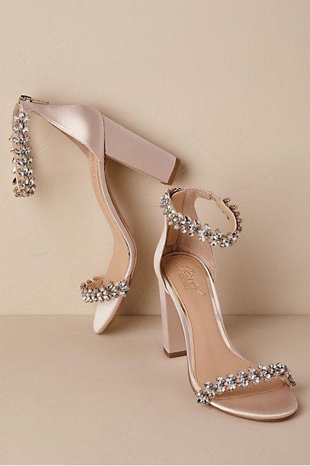 Jewel By Badgley Mischka Mayra Block Heels Bridal Shoes Wedges Bridal Shoes Low Heel Bridal Shoes