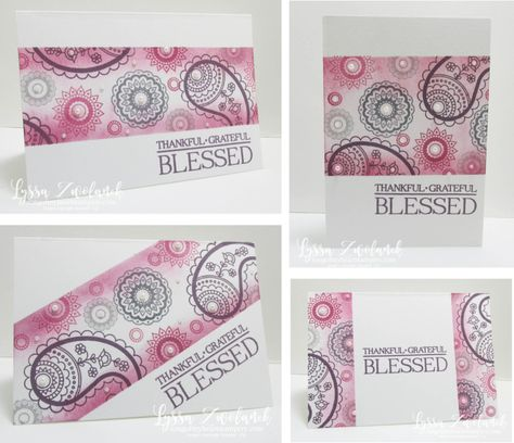 Lyssa's Masked Sponging Technique Four Ways - a tutorial featuring the Paisleys & Posies set from Stampin' Up!