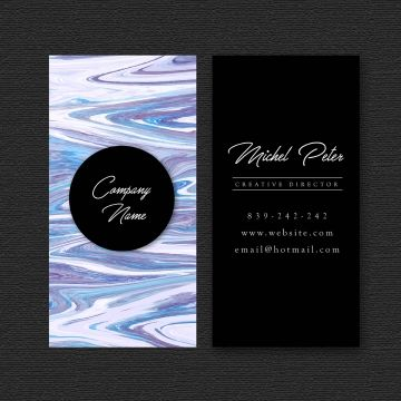Business Card With Marble Texture Abstract Texture Visiting Png