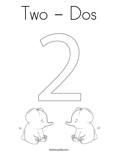 Two Dos Coloring Page Twisty Noodle Coloring Pages Mini Books Elephant Coloring Page