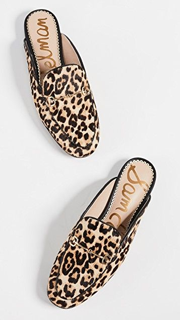sam edelman leopard print linnie mules