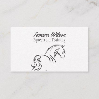Equestrian Horse Training Service Business Card Zazzle Com Printing Business Cards Equestrian Horse Training
