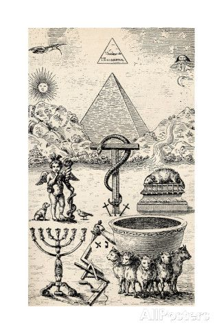 High Degree Symbols From The Book The Freemason By Eugen Lennhoff Published 1932 Canvas Art - Ken Welsh Design Pics x Masonic Art, Masonic Symbols, Ancient Symbols, Illuminati, Tarot, Esoteric Art, Templer, Arte Obscura, Occult Art