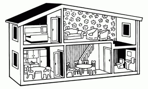 Dollhouse Coloring Page Free Printable Coloring Pages