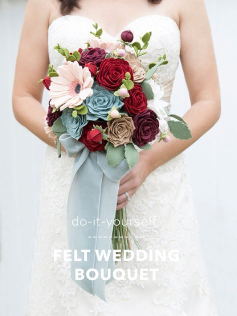How To Make The Most Gorgeous Wedding Bouquet Entirely Of Felt