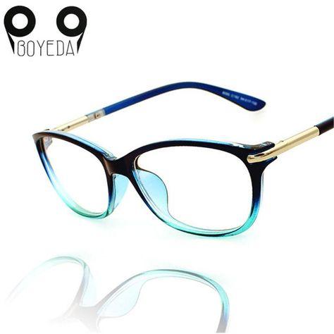 a94c151a66 BOYEDA Spectacle Frame Female Grade Clear Computer Glasses Fashion Reading Cat  Eye Glasses Women Optical Prescription Eyewear