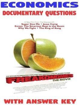 High School Economics Freakonomics Documentary Questions With Answer Key This Or That Questions Economics Economics Lessons