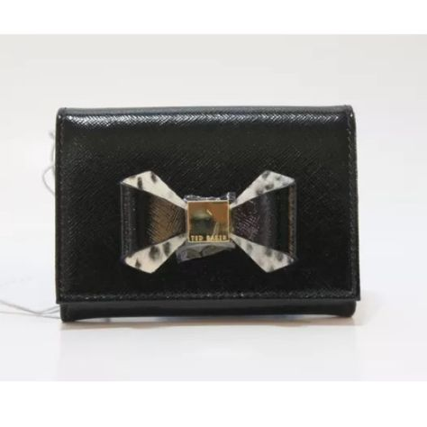 53d177e657 Ted Baker London Helli Metallic Bow Mini Purse Ted Baker London Helli  Metallic Bow Mini Purse 100% Authentic Color  Black Style  XA5W XL41 HELLI  Retail  ...