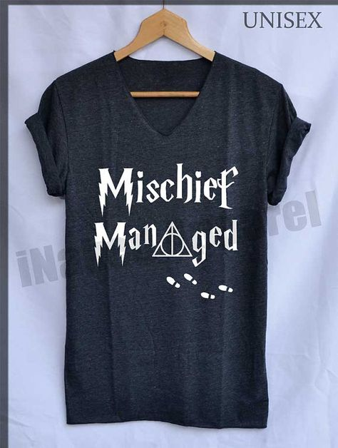 5. Mischief Managed Marauder's Map Shirt Harry Potter Shirts V-Neck Unisex S M L