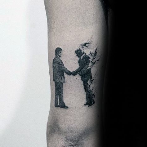 Pink Floyd Guys Tattoo Designs On Back Of Arm