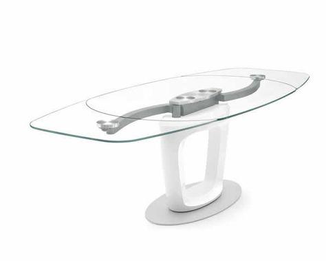 Tavolo Cucina Allungabile Vetro.Tavoli Calligaris Di Cristallo Tutto Il Design Per Il Tuo Living