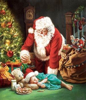 A Cookie for Santa - 1000pc Jigsaw Puzzle by Sunsout | Santa