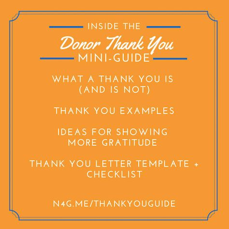 Best Donor Thank You NOte I have EVER Gotten donor stewardship - donor list template