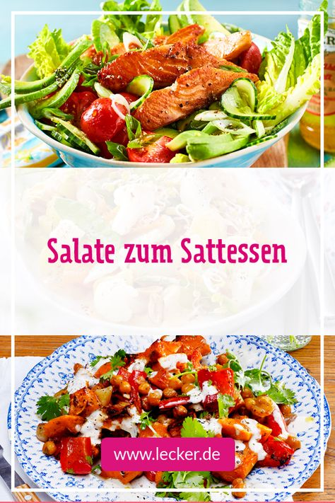 Salate für fettfreie Ernährung