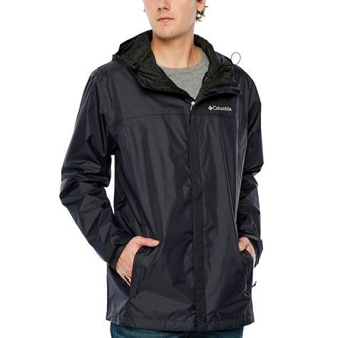 Men/'s Waterproof Raincoat Lightweight Casual Hooded Rain Coat Long Jacket