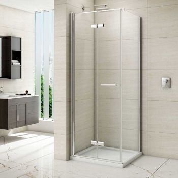 Merlyn 8 Series Frameless Bi Fold Shower Door M87111 760mm Frameless Clear Shower Doors Bifold Shower Door Bifold Glass Shower Door
