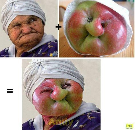 non è una granny smith ... ma è comunque una bellissima nonna mela