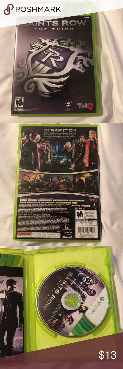 Xbox 360 saints row the third Xbox 360  Saints Row the Third  In great condition   Bundle games together and save! Other